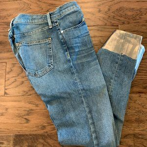 Rag & Bone Jeans with Silver painted Bottoms